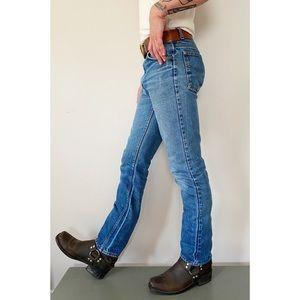 Vintage 70s Roebucks High Rise Straight Leg Jeans